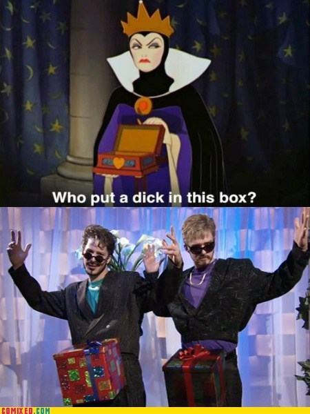 From the Movies,in a box,Justin Timberlake,Lonely Island,snow white