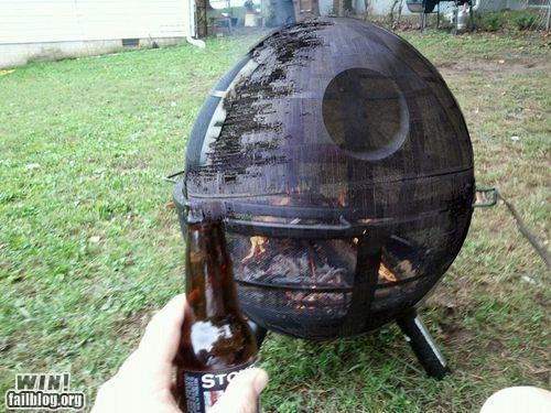 barbecue Death Star fire pit Hall of Fame nerdgasm star wars - 6276183808