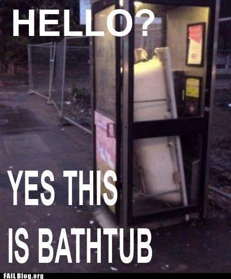 bathtub hello phonebooth - 6276210432