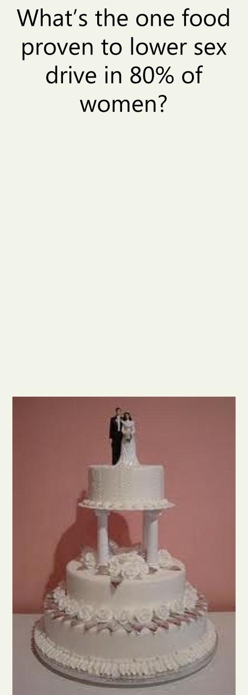 lower sex drive one food wedding cake - 6276289536