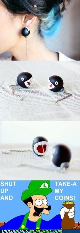 chain chomp comp earrings IRL take my coins - 6276305920