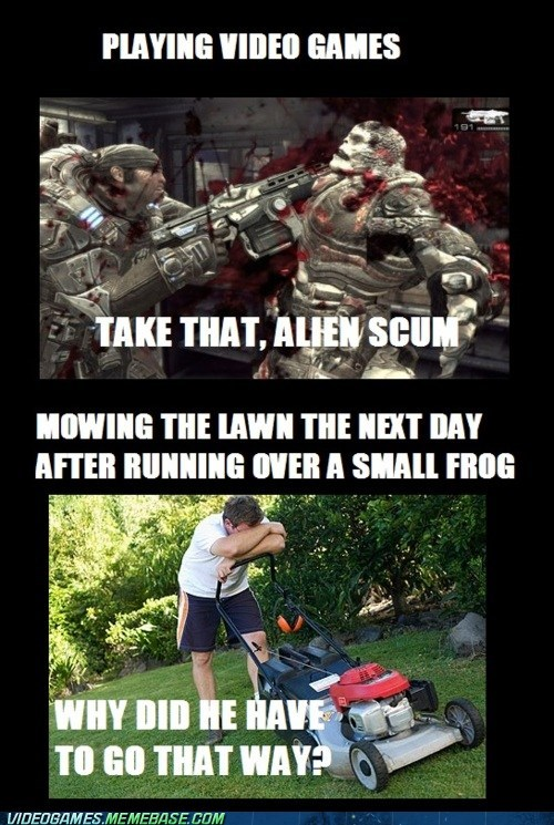 Aliens Gears of War mowing the feels video games violence