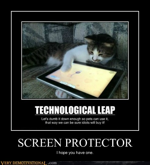 cat hilarious ipad screen protector - 6276336896