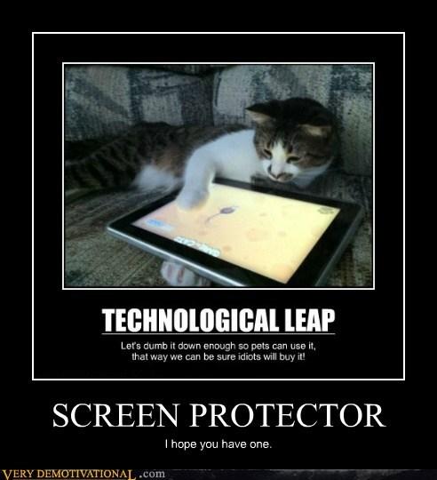 cat hilarious ipad screen protector - 6276336896