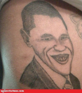barak obama,g rated,joker,president,Ugliest Tattoos