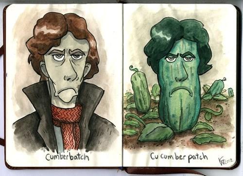 bbc benedict cumberbatch cucumber Fan Art Sherlock - 6276459264