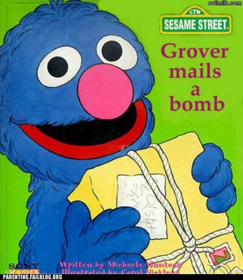 childrens-books,grover mails a bomb,Sesame Street