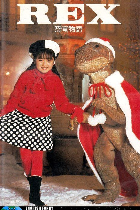 christmas,Japan,japanese,rex,t rex,tyrannosaurus,tyrannosaurus rex