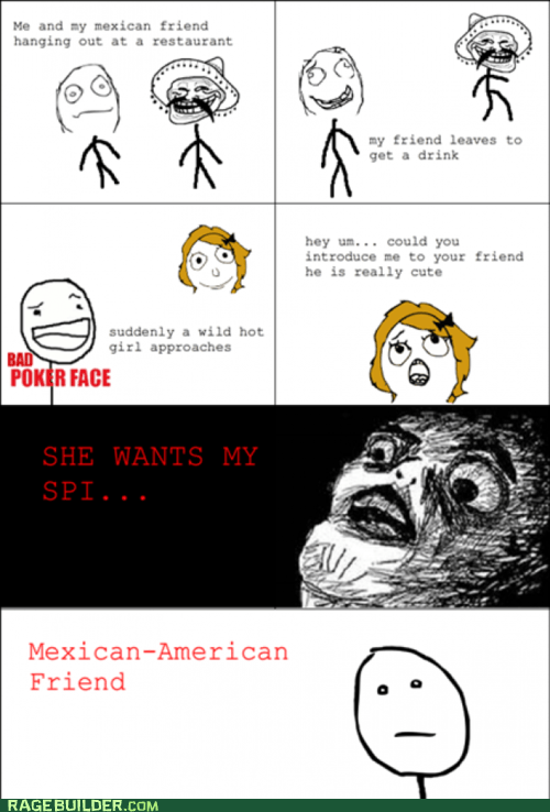 poker face racism Rage Comics she wants my - 6276501504