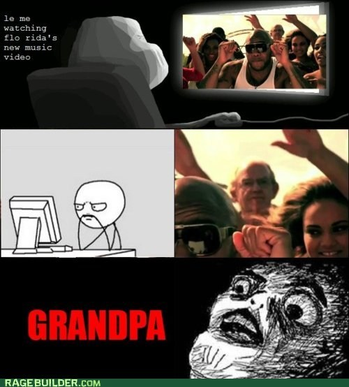 flo rida,Grandpa,Rage Comics,raisin face