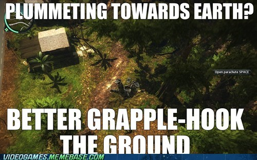 amazing game grapple hook just cause 2 meme open world