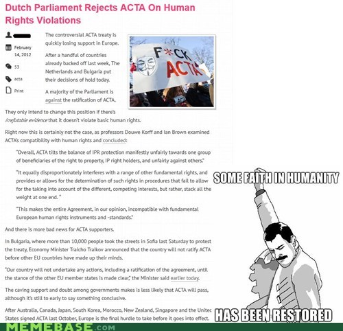 Acta,europe,faith in humanity,finally,human rights,Rage Comics