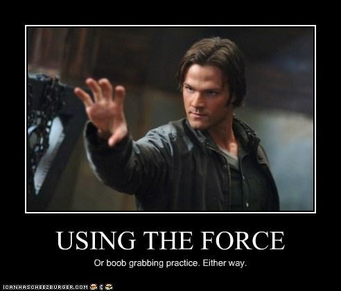 bewbs invisible Jared Padalecki sam winchester Supernatural the force - 6276636672