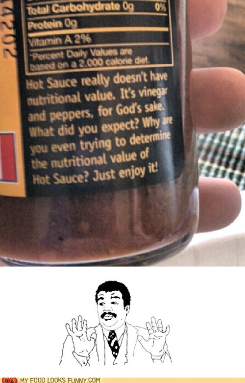crazy,hot sauce,label,message,nutrition