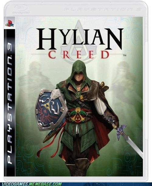 assassinss-creed crossover hylian link video games zelda