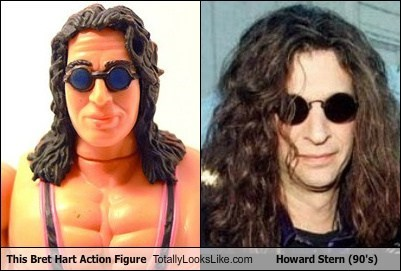 This Bret Hart Action Figure Totally Looks Like Howard Stern (90's)