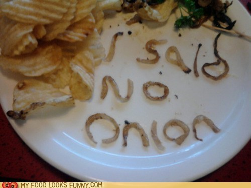 message onions restaurant service - 6276736768