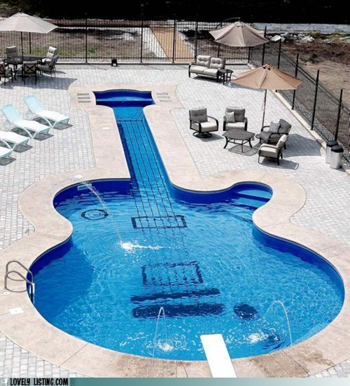 best of the week fancy guitar Les Paul pool