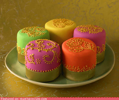 bright cake decorated epicute gold neon