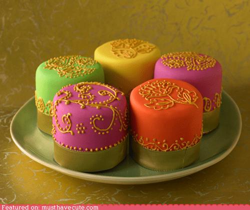 bright cake decorated epicute gold neon - 6276769024