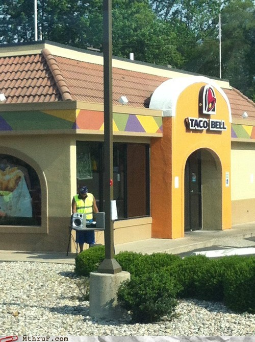 dj dj drive thru drive thru taco bell taco bell dj - 6276824576