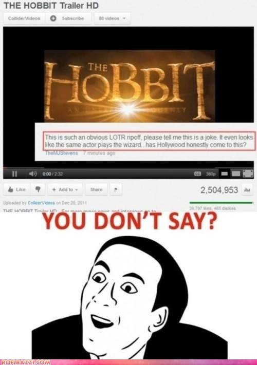 funny Hall of Fame Lord of the Rings meme Movie nic cage The Hobbit - 6277032448