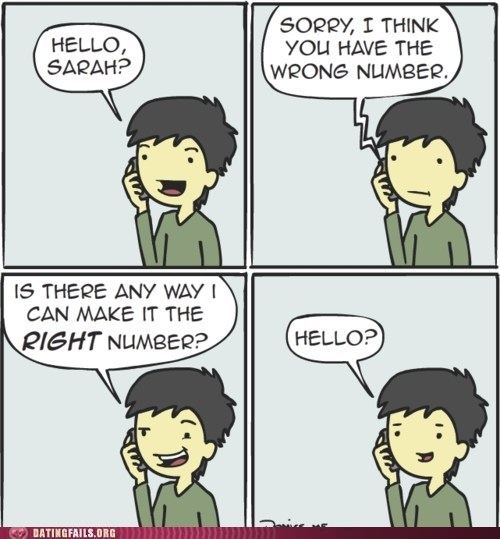 right number,trying,wrong number