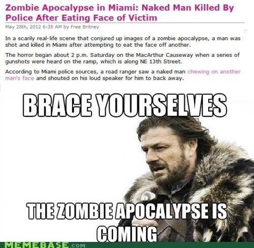 gross miami Winter Is Coming zombie - 6277109504