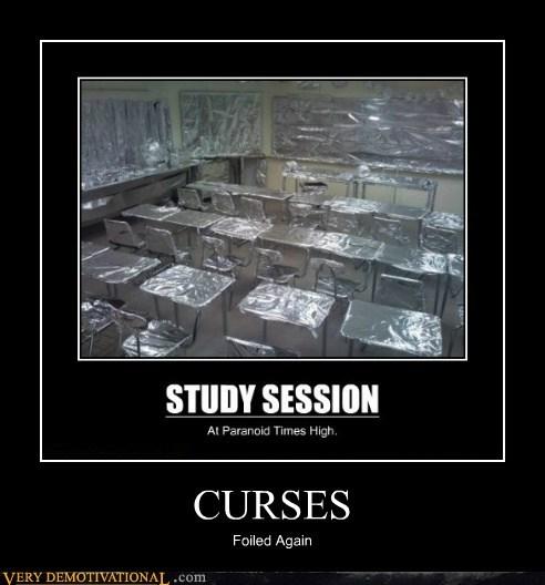 aluminium,classroom,curses,foil,hilarious,pun