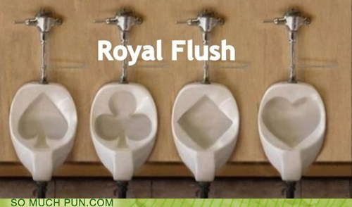 cards,flush,Hall of Fame,poker,royal flush,shape,shapes,suits,toilets,urinals