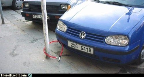 anti-theft bike lock car lock theft volkswagen VW