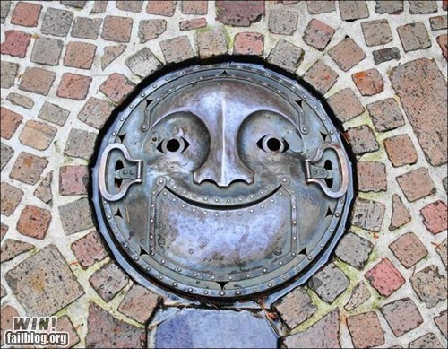 art design happy chair is happy manhole - 6277506560