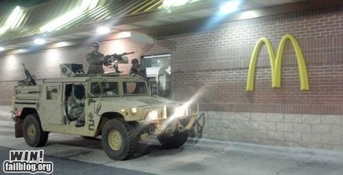 army,BAMF,drive thru,fast food,McDonald's,military