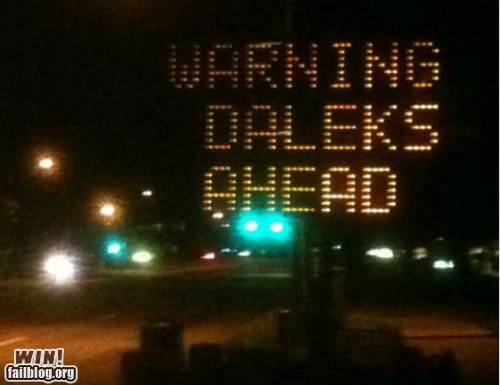 construction daleks doctor who nerdgasm road sign warning - 6277510400