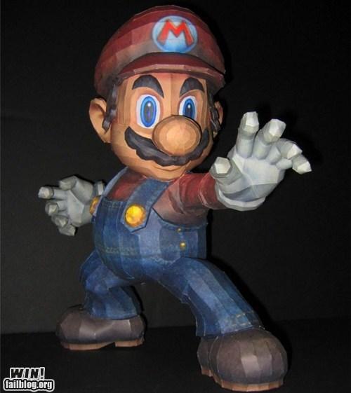 mario,nerdgasm,nintendo,papercraft,Super Mario bros