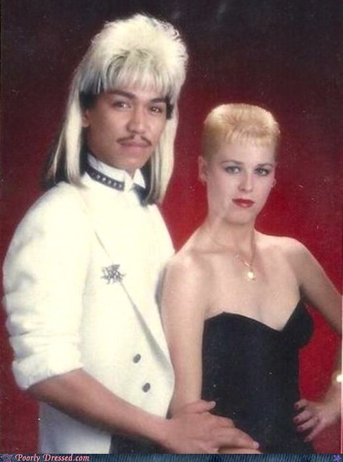 80s fashion hair mullet prom