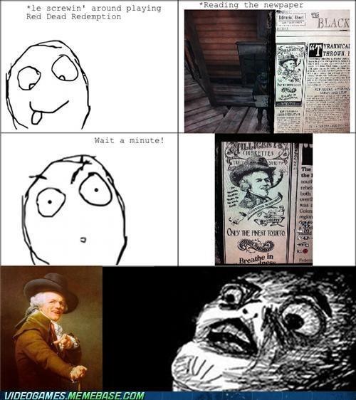 Joseph Ducreux meme rage comic realization red dead redemption - 6277946368