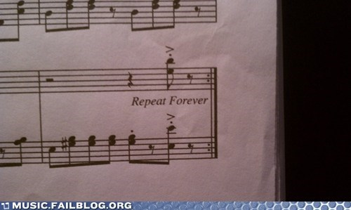 clasical forever repeat sheet music - 6278088704