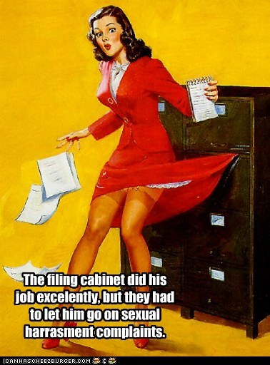 dress filing cabinet sexual harrassment woman work - 6278088960