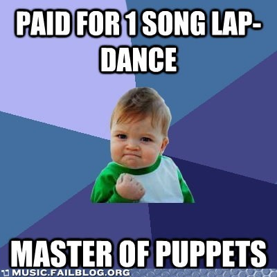 Master of Puppets meme metallica success kid - 6278333184