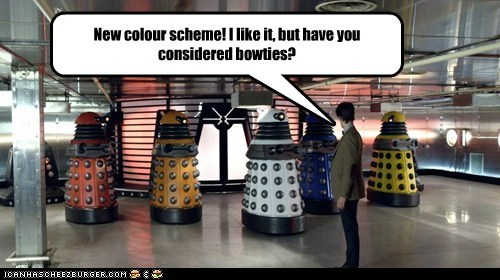 bowties,color scheme,cool,daleks,doctor who,Matt Smith,new,the doctor