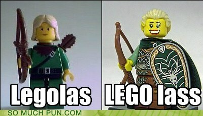 Hall of Fame lass lego legolas literalism Lord of the Rings prefix similar sounding suffix
