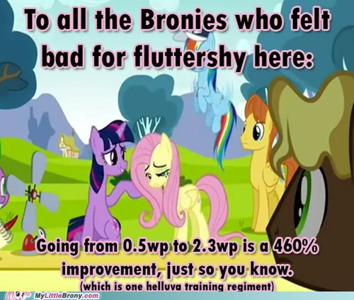 fluttershy,montage,training,TV,wing power