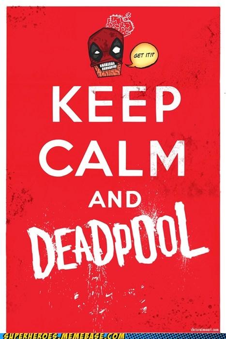 Awesome Art deadpool keep calm