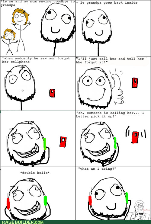 calling yourself,old people,phone,Rage Comics