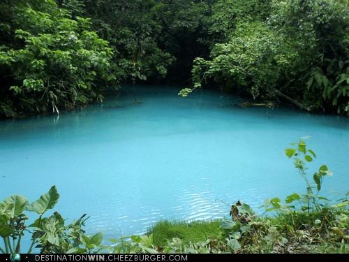 costa rica,lagoon,Rio Celeste,water