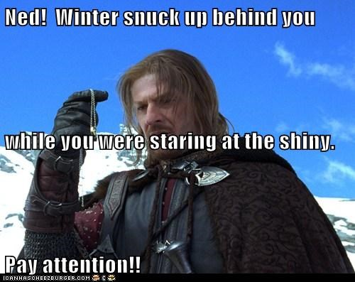 Boromir Lord of The Ring Lord of the Rings ned stark pay attention sean bean shiny the one ring Winter Is Coming - 6279223296