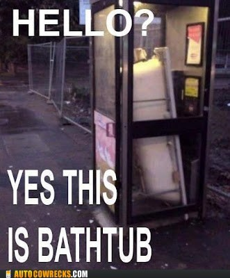 AutocoWrecks bathtub g rated Hall of Fame hello this is bathtub phone booth - 6279428096