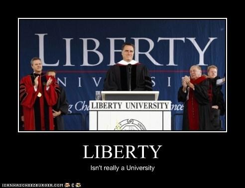 LIBERTY Isn't really a University
