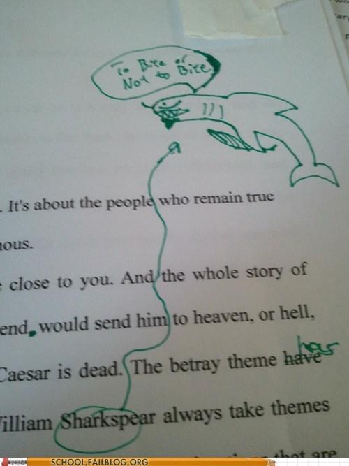 essays shakespeare sharkspear test humor to bite or not to bite - 6279456256